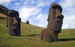 the statues on Easter Islands, Rapa Nui