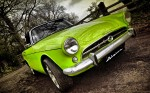 green old timer car
